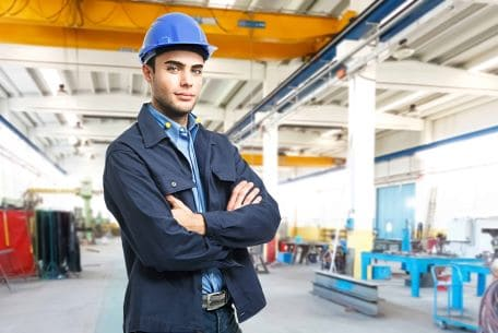 b2b marketing agency - industrial engineer in manufacturing plant