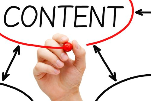 What is content marketing? Whiteboard of the word Content